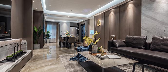 御林河畔140平四居室现代